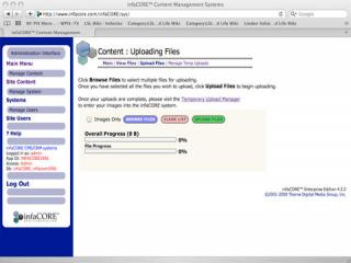infaCORE™ bulk file uploads on Mac OS X/Safari